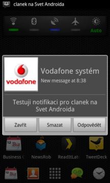 SMS Popup: Notifikační okno