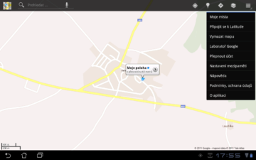 Pro navigaci můžete použít Google Maps