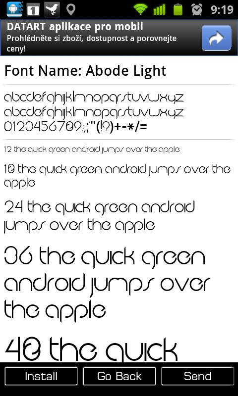 Font Installer