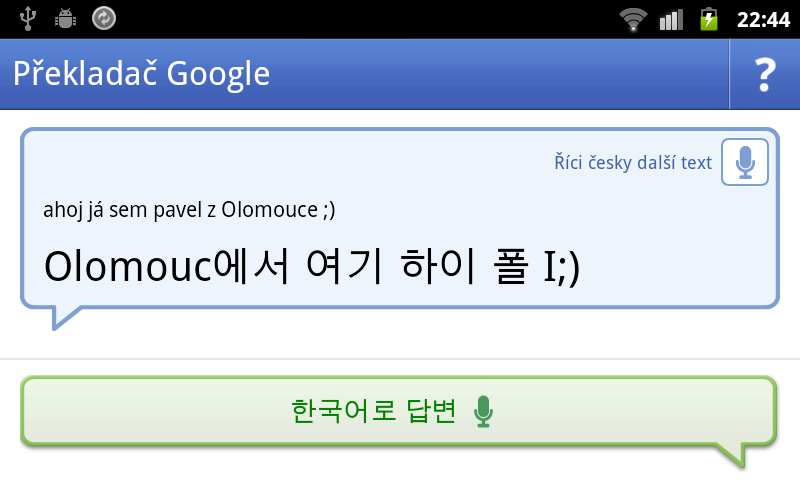Konverzace čeština-korejština