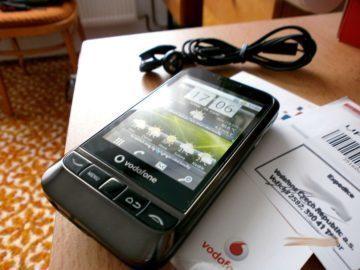 Vodafone 845 - úvodní obrazovka