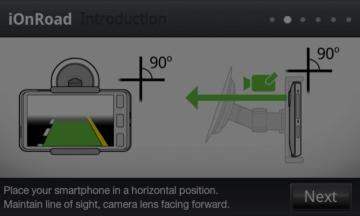Osa telefonu by měla svírat s vozovkou pravý úhel