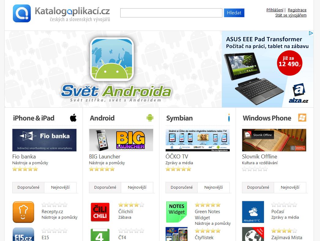 katalog aplikaci