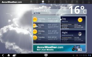 Pro předpovídání počasí je tu AccuWeather.com.