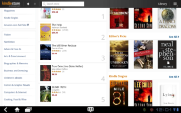 Amazon Kindle je čtečka elektronických knih, které můžete stahovat a nakupovat z Kindle Store na Amazonu.