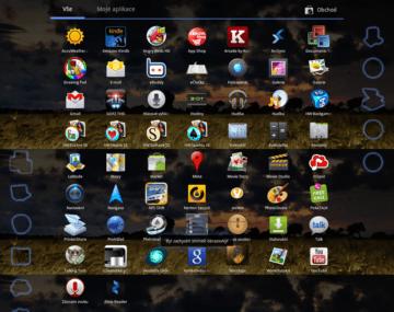 Přehled všech předinstalovaných aplikací