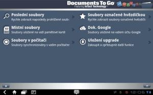Kancelářský balík Documents To Go umí pracovat s dokumenty MS Office a s Google Docs.