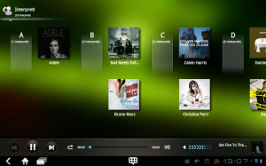 Druhá aplikace Hudba nabízí poněkud jiný přístup k písničkám.