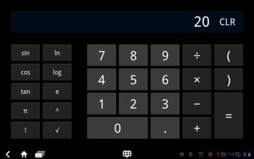 Kalkulačka lépe využívá výhod velkého displeje