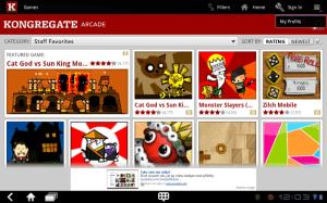 Kongregate Arcade nabízí přístup k několika desítkám flashových her.