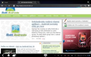 Prohlížeč se funkčně i vizuálně značně přiblížil klasické desktopové aplikaci.