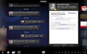 Social Touch kombinuje na časové ose informace z kalendáře, e-mailu, Facebooku a Twitteru