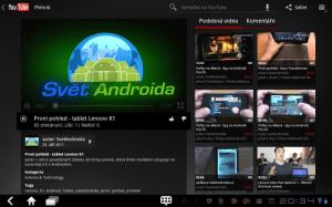V nabídce multimediální zábavy pochopitelně nechybí Youtube