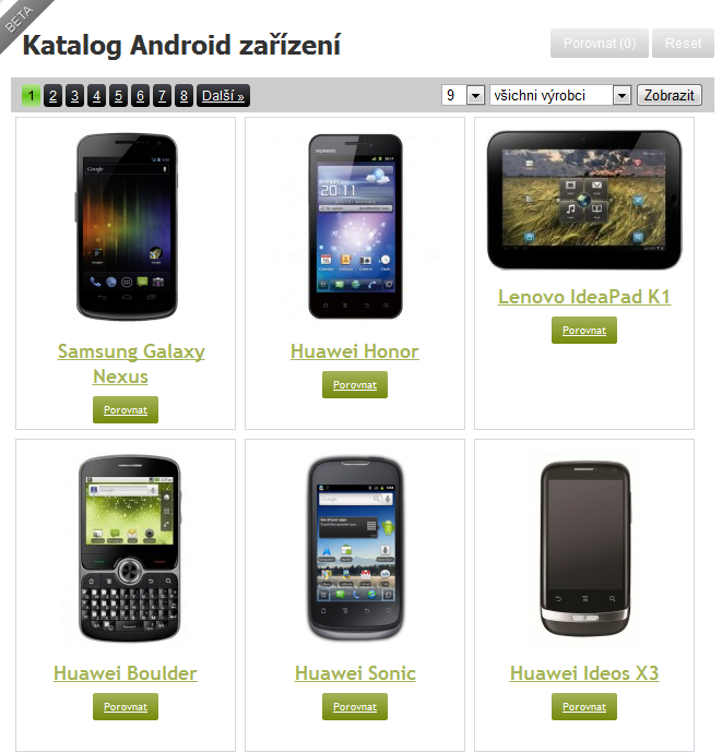 update Android Katalogu