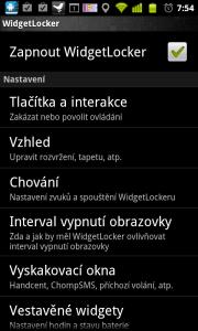 WidgetLocker nabízí široké možnosti nastavení