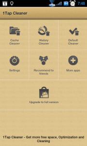 Po spuštění se zobrazí nabídka čítající sedm ikonek ve třech řadách.