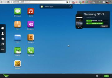 Na ploše se zobrazí několik ikon a dolní informační lišta