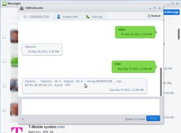 SMS v obvyklém režimu konverzace s každým kontaktem