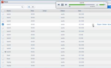 AirDroid si poradí také se zvukovými soubory