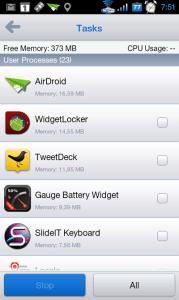AirDroid v telefonu poslouží jako správce procesů...