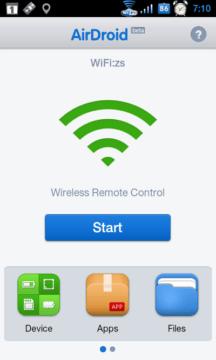 Po spuštění aplikace v telefonu stačí stisknout Start