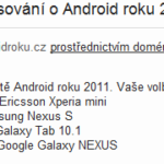 Android roku 2011 email hlasovani