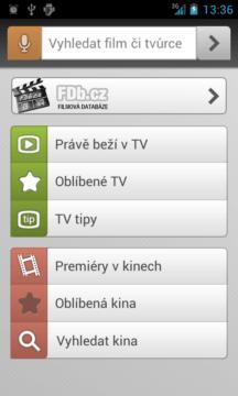 FDb – úvodní obrazovka