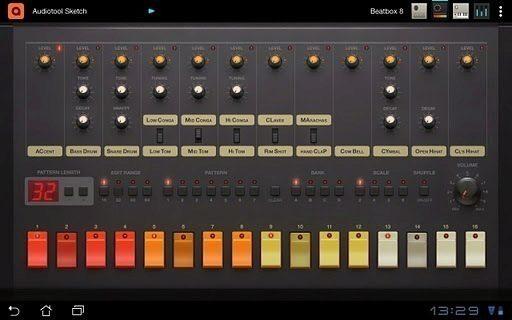 TR-808 v Audiotool Sketch