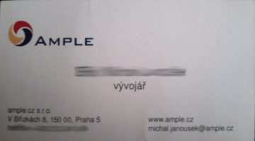 Papírová firemní vizitka