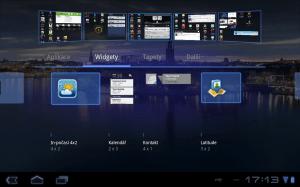 Přidávání widgetů na plochy