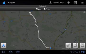 Google Navigace - z bodu A do bodu B