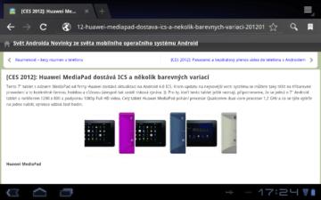 Mobilní verze webu svetandroida.cz
