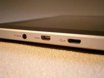 Konektor nabíjení, HDMI, USB