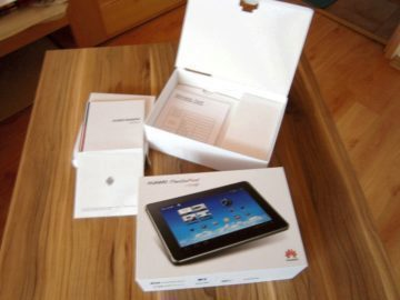 Originální krabice tabletu Huawei