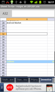 ...a také s tabulkami MS Excel