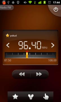 Aplikace Rádio je laděna do retro stylu