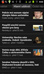 Na dalších záložkách najdete zprávy z hlavních českých zpravodajských serverů