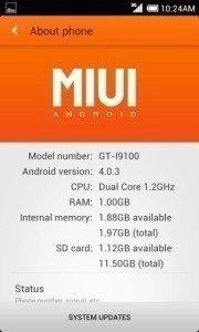 MIUI postavená na Androidu 4.0
