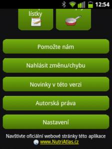 Hlavní menu