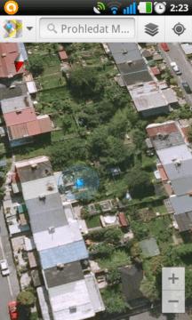 Zobrazení polohy na satelitní mapě