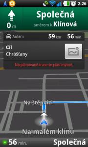 Klasická Google navigace