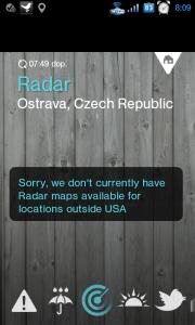 Pro území mimo USA nejsou mapy k dispozici