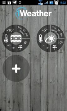 V aplikaci 1Weather můžete sledovat počasí na více místech