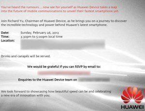 Pozvánka Huawei na MWC