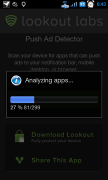 Lookout Push Ad Detector