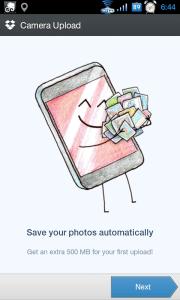 Nastavení automatického nahrávání fotek a videí