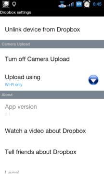 Dropbox pro Android s automatickým nahráváním fotek a videí