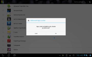 App Locker dokáže zabezpečit aplikace heslem