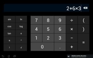 Kalkulačka pro tablety nabízí všechny funkce na jedné obrazovce