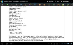 V kancelářském balíku Polaris Office 3.0 můžete editovat textové dokumenty